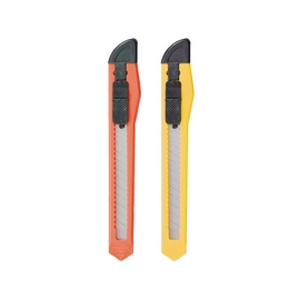 Нож канцелярский c механической фиксацией лезвия ErichKrause® Standard, 9мм (в пакете по 1 шт.)