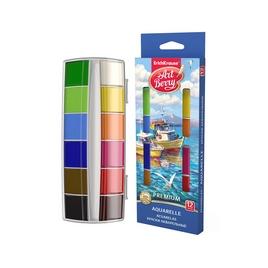 Краски акварельные ArtBerry® Premium с УФ защитой яркости,  коробка 12 цветов, ассорти