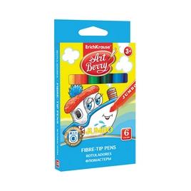 Коробка фломастеров ArtBerry® Jumbo Super Washable, 6 цветов, ассорти
