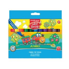 Коробка фломастеров ArtBerry® Jumbo Super Washable, 12 цветов, ассорти