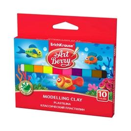 Классический пластилин ArtBerry® с Алоэ Вера, коробка 10 цв., 150г (картон с европодвесом), ассорти
