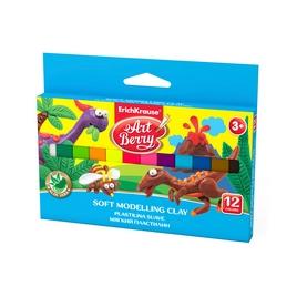 Мягкий пластилин ArtBerry® с Алоэ Вера, коробка 12 цветов, 180г (картон с европодвесом), ассорти
