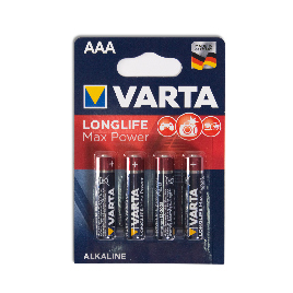 Батарейка VARTA Long Life Max Power Micro 1.5V - LR03/ AAA (4 шт) (4703) <4703-4>
