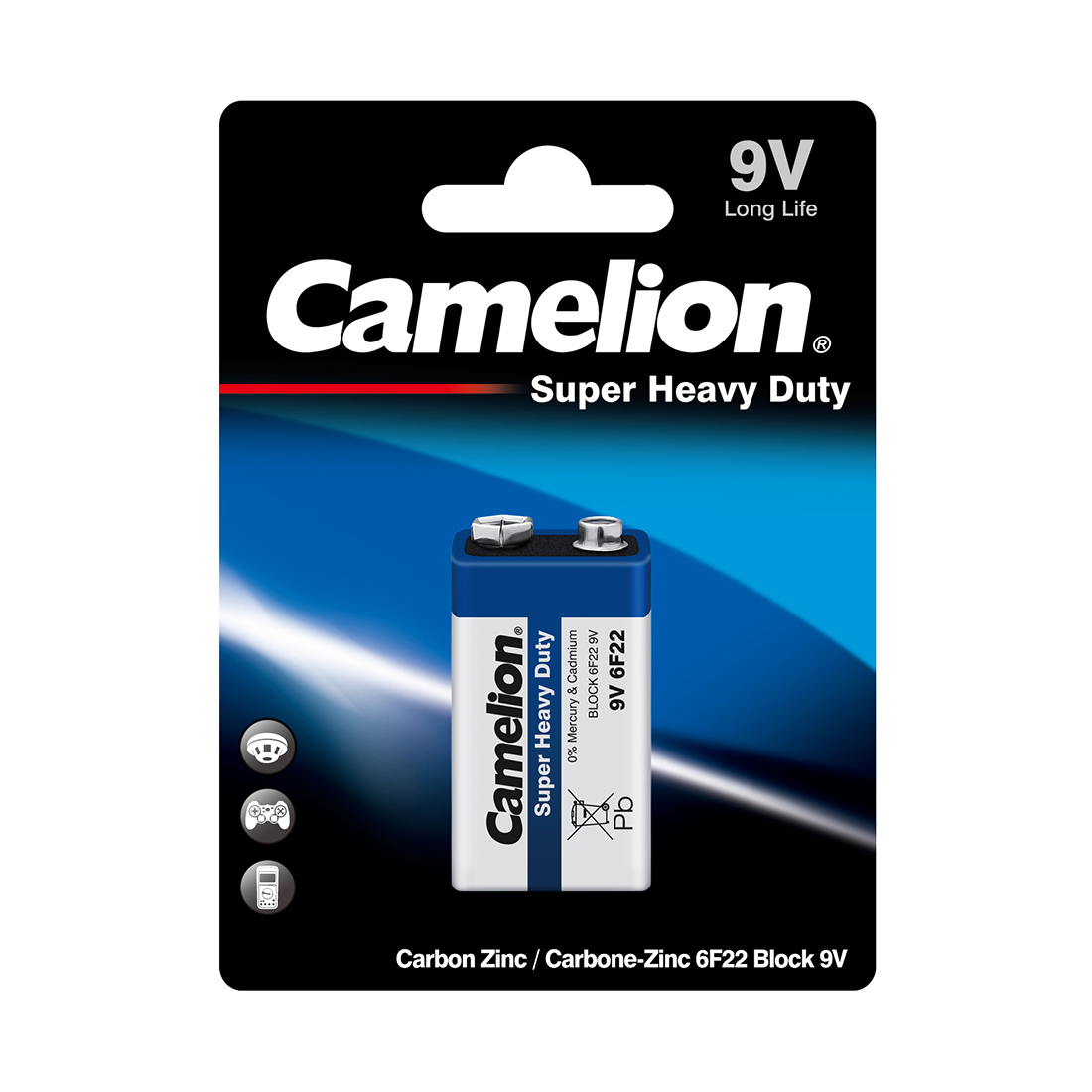 Батарейка CAMELION Super Heavy Duty 6F22-BP1B (1)