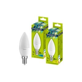 Эл. лампа светодиодная Ergolux LED-C35-7W-E14-4K, Холодный