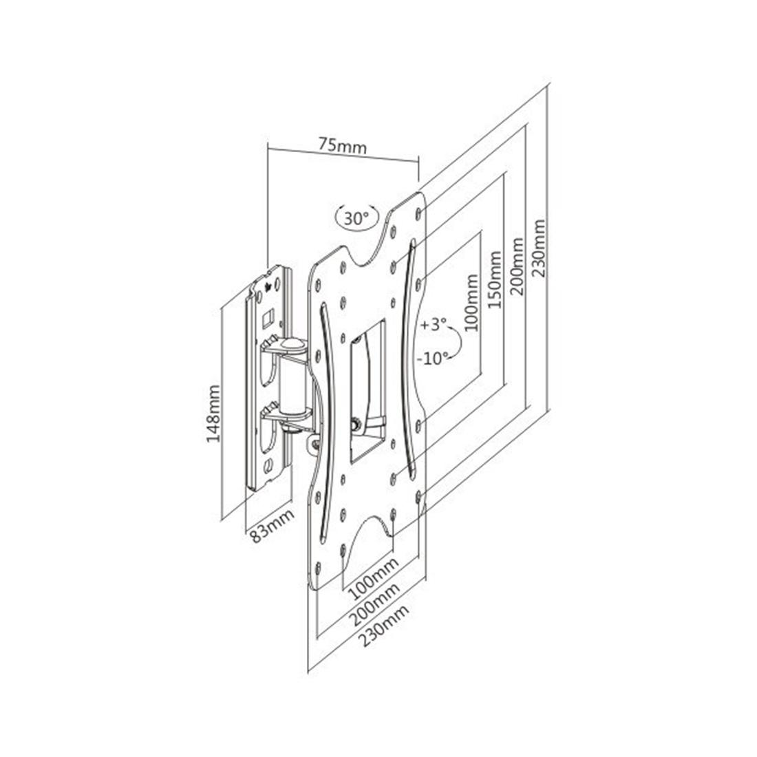 Кронштейн Deluxe DLKLA27-220 для ТВ и мониторов, 23