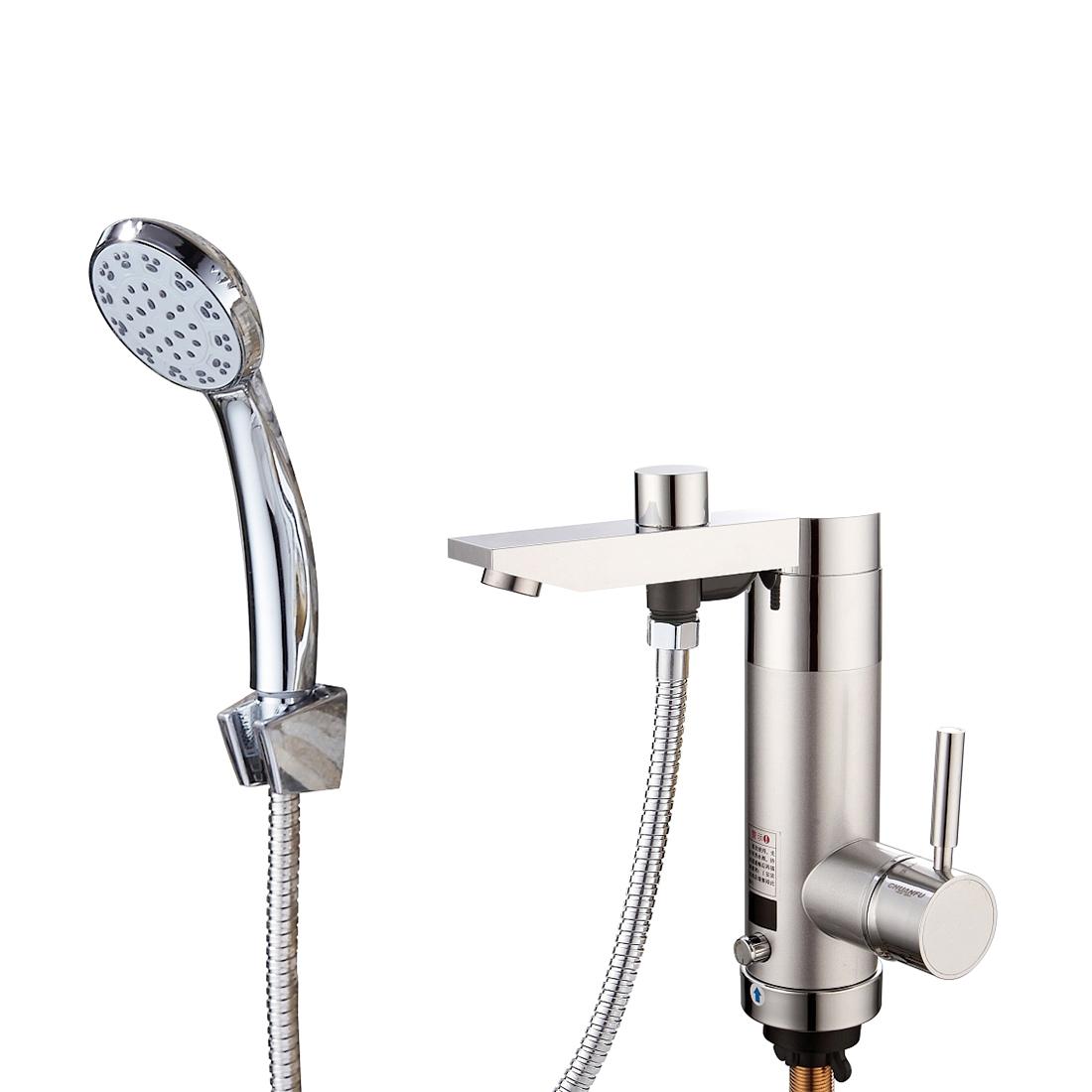 Кран водонагреватель проточной воды AQUA WH105W с душем