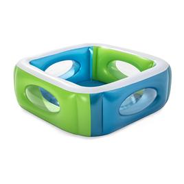 Надувной бассейн Bestway 51132 (сине-оранжевый)