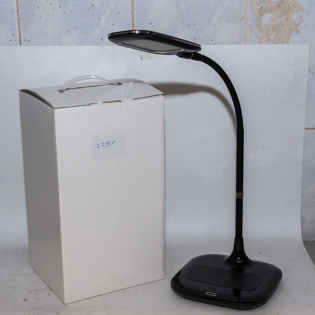 Led table lamp with wireless charger (black) Q3Q