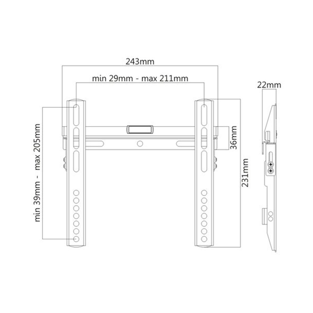 Кронштейн Brateck LP43-22 для ТВ и мониторов, 23