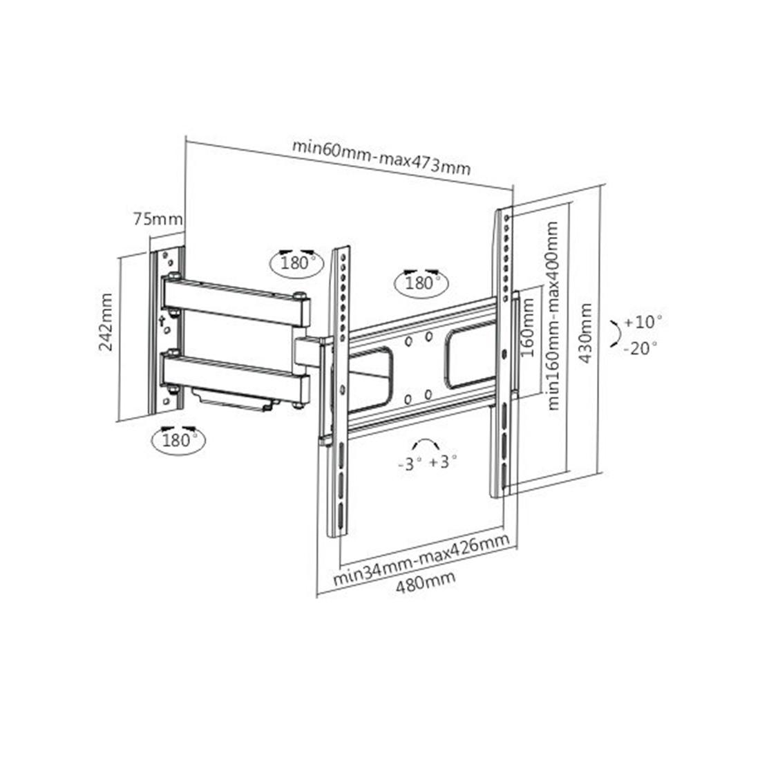 Кронштейн Brateck LPA36-443 для ТВ и мониторов, 32