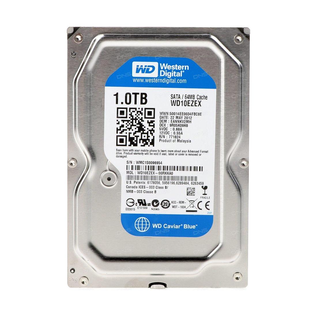 Жёсткий диск HDD 1Tb Western Digital Blue 7200pm 64Mb 3,5