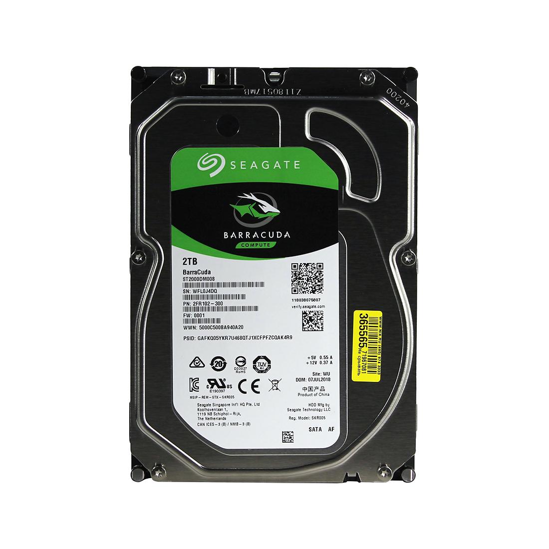 Жёсткий диск HDD 2Tb Seagate Barracuda SATA6Gb / s 7200rpm 256Mb 3,5