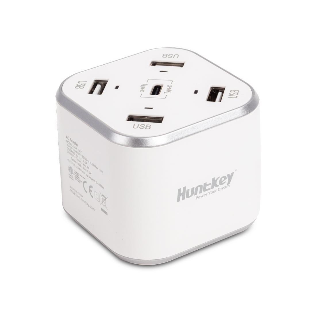 Универсальное USB зарядное устройство Huntkey SCA507 Белый