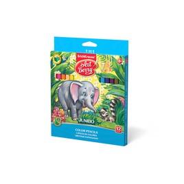 Цветные карандаши ArtBerry Jumbo 12 цв. + Альбом для рисования 10 л.