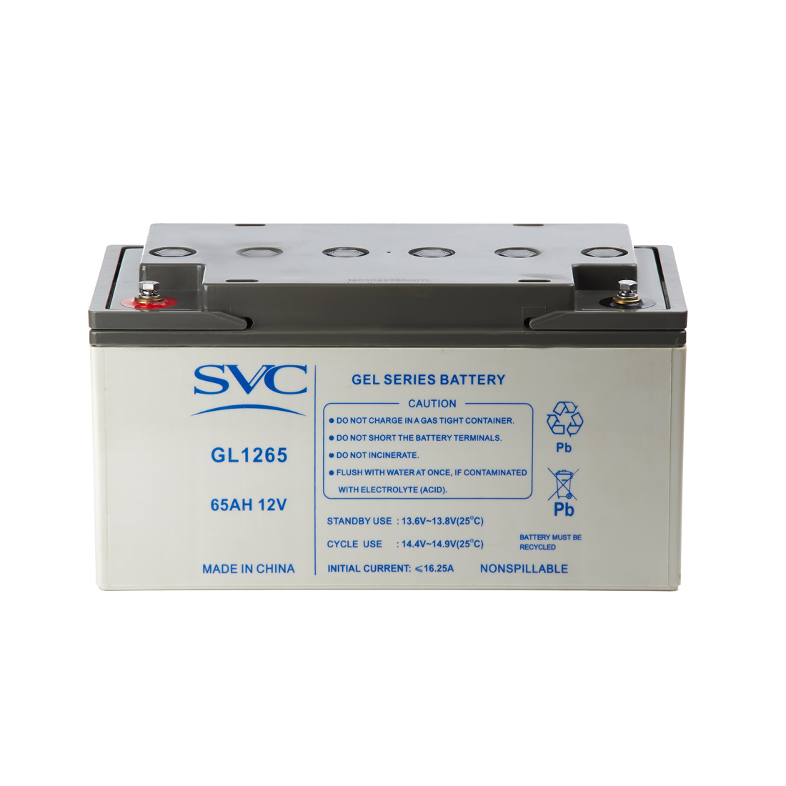 Аккумуляторная батарея SVC GL1265 12В 65 Ач (325*167*174)