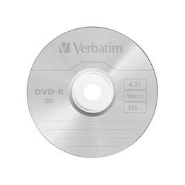 Диск DVD-R Verbatim (43547) 4.7GB 1штука Незаписанный