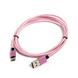 Переходник USB-USB Type C SVC USC-AL0120PK-P, Розовый, Пол. пакет, 1.2 м