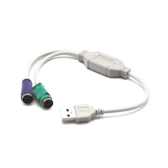 Адаптер Deluxe USB DLA-2P на PS / 2 2 Порта