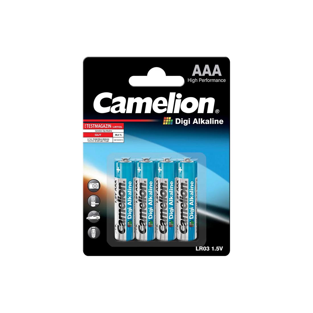 Батарейка CAMELION Digi Alkaline LR03-BP4DG 4 шт. в блистере