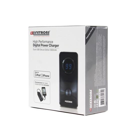 Портативное зарядное устройство Lifetrons FG-1038-BK-I1 5600 mAh