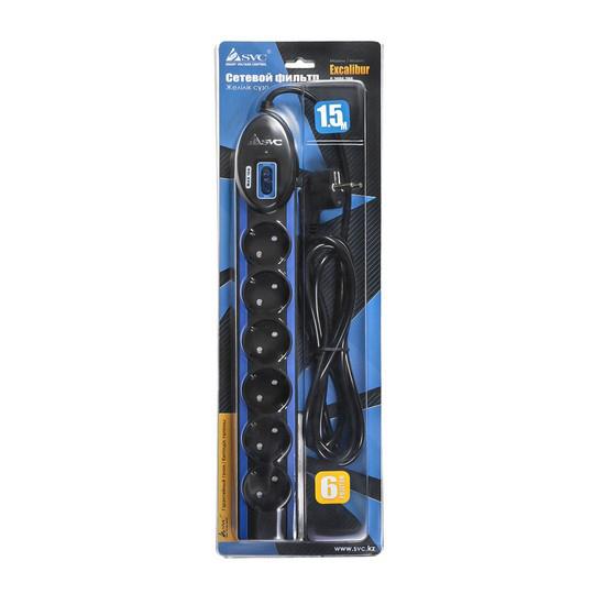 Сетевой фильтр SVC Excalibur G-2006-1.5BB