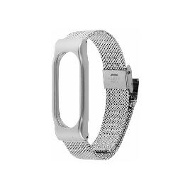 Сменный металлический браслет для Xiaomi Mi Band 2 Серебряный